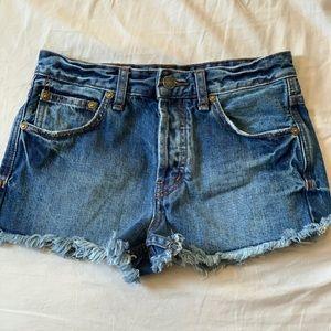 Free People W 24 Jean Shorts